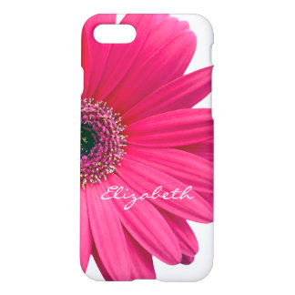 Hot Pink Gerber Gerbera Daisy Personalized iPhone 7 Case