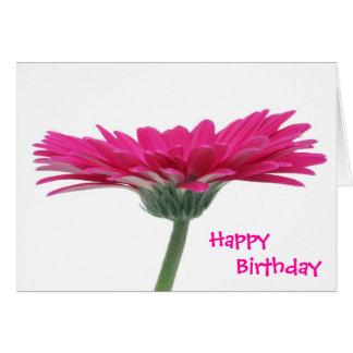 Hot Pink Gerbera Daisy Card