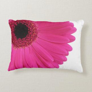 Hot Pink Gerbera Daisy Close-up Decorative Pillow