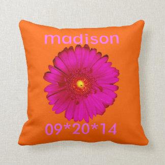 Hot Pink Gerbera Daisy for Vicki III Pillows