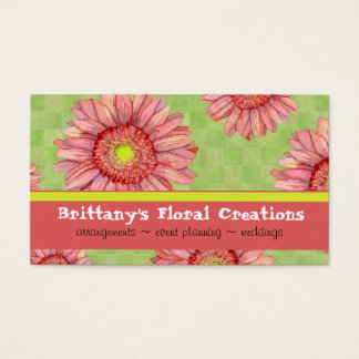 Hot Pink Gerbera Daisy Modern Floral Stylish Business Card