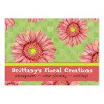 Hot Pink Gerbera Daisy Modern Floral Stylish Business Card