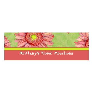 Hot Pink Gerbera Daisy Modern Floral Stylish Mini Business Card