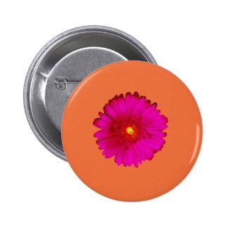 Hot Pink Gerbera Daisy on Orange Pin