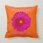 Hot Pink Gerbera Daisy Pillows