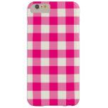 Hot Pink Gingham iPhone 6 Plus Case