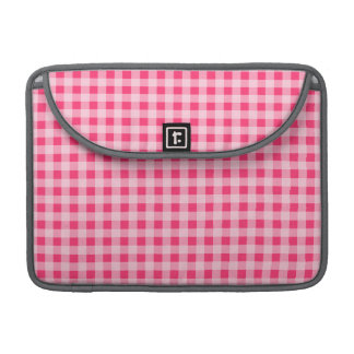 Hot Pink Gingham Sleeves For MacBooks