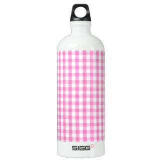 Hot pink Gingham pattern Water Bottle