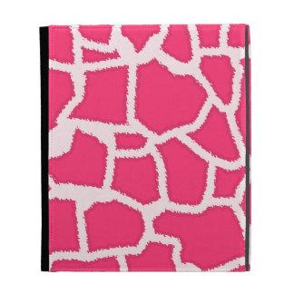 Hot Pink Giraffe Animal Print iPad Folio Covers
