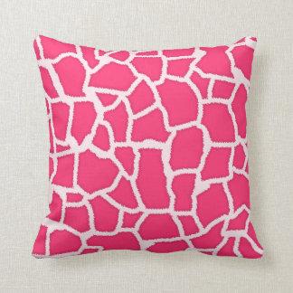 Hot Pink Giraffe Animal Print Throw Pillows
