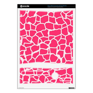 Hot Pink Giraffe Animal Print Xbox 360 S Console Skins