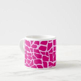 Hot pink giraffe pattern espresso cup