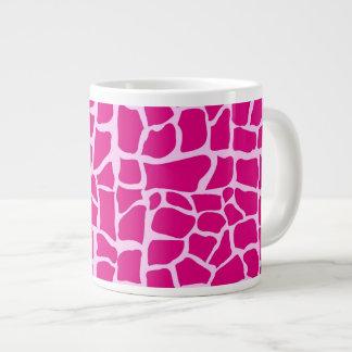 Hot pink giraffe pattern 20 oz large ceramic coffee mug