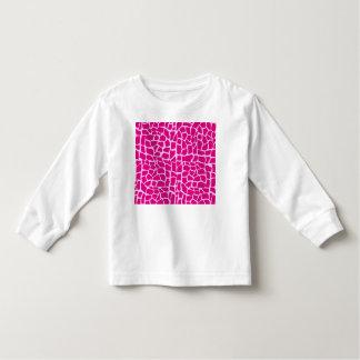 Hot pink giraffe pattern toddler t-shirt