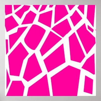 Hot Pink Giraffe Pattern Wild Animal Prints