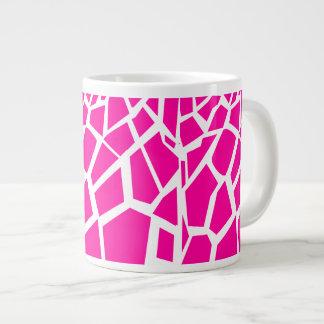 Hot Pink Giraffe Pattern Wild Animal Prints Large Coffee Mug