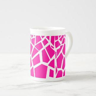 Hot Pink Giraffe Pattern Wild Animal Prints Tea Cup