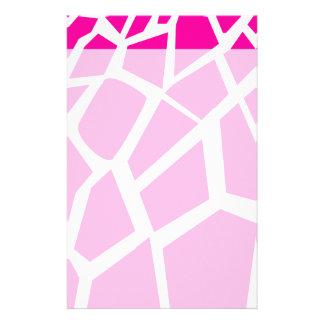 Hot Pink Giraffe Pattern Wild Animal Prints Stationery