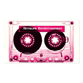 Hot Pink Girl Mixtape Business Card