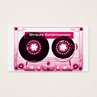 Hot Pink (Girl)  Mixtape Business Card
