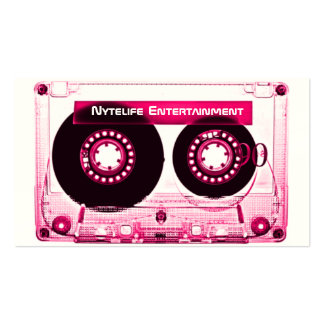 Hot Pink (Girl)  Mixtape Double-Sided Standard Business Cards (Pack Of 100)