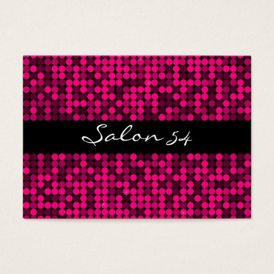 Hot Pink Glam Business Card