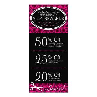 Hot Pink Glam Custom Salon Coupon Rack Cards