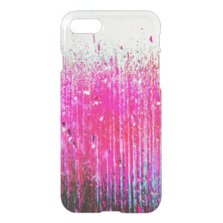Hot Pink Glass Dripping Watercolor iPhone 8/7 Case