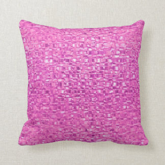 Hot Pink Glass Pillow