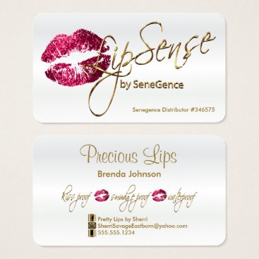 DesignsbyDonnaSiggy Hot Pink Glitter and Gold - Satin White Business Card