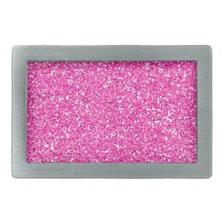 Hot Pink Glitter Belt Buckle