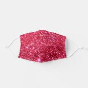 Hot Pink Glitter Fuchsia Glittery Girly Trendy Cloth Face Mask