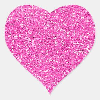 Hot Pink Glitter Heart Sticker