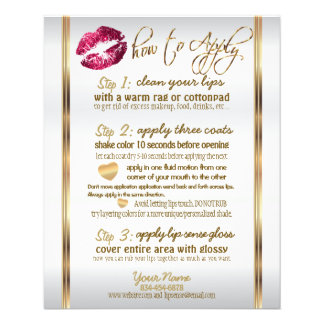 Hot Pink Glitter Lip Instructions 2 Flyer
