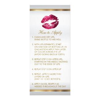 Hot Pink Glitter Lip Instructions 2 Rack Card