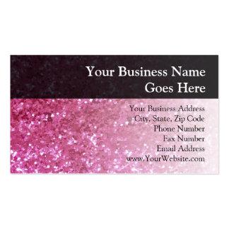 Hot Pink Glitter Look Business Card Templates