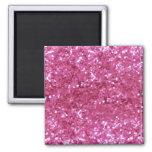 Hot Pink Glitter Look Magnet