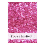 Hot Pink Glitter Look Personalized Invite