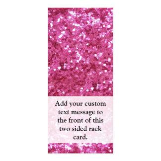 Hot Pink Glitter Look Rack Card Template