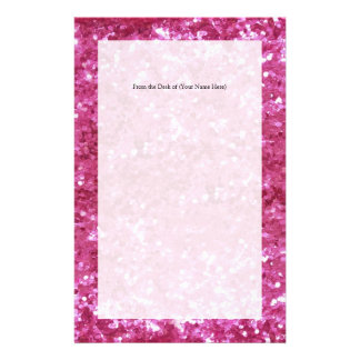 Hot Pink Glitter Look Stationery