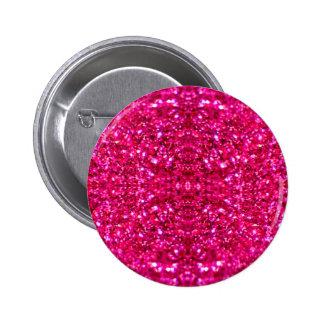 hot pink glitter pinback button