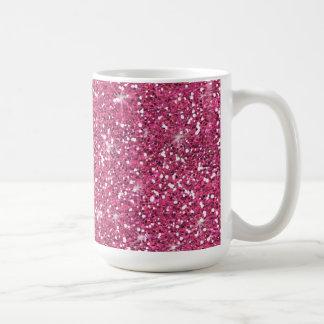 Hot Pink Glitter Printed Classic White Coffee Mug