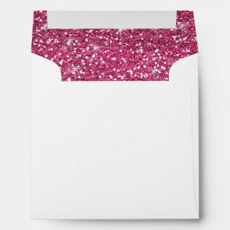 Hot Pink Glitter Printed Envelope
