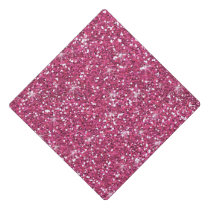 Hot Pink Glitter Printed Graduation Cap Topper