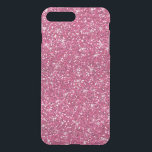"""Hot Pink Glitter Printed iPhone 8 Plus/7 Plus Case<br><div class=""""desc"""">Girly Hot Pink Glitter - printed photo effect glitter background - glitz glamor - stars or starry glow effect - template to make your own. GraphicsByMimi &#169;. Use to create your own stylish one of a kind gift for you or your friends and family by personalizing it with your name,...</div>"""