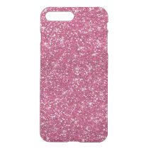 Hot Pink Glitter Printed iPhone 8 Plus/7 Plus Case