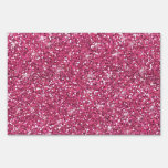 Hot Pink Glitter Printed Lawn Signs
