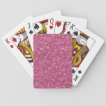 "Hot Pink Glitter Printed Playing Cards<br><div class=""desc"">Girly Hot Pink Glitter - printed photo effect glitter background - glitz glamor - stars or starry glow effect - template to make your own. GraphicsByMimi &#169;. Use to create your own stylish one of a kind gift for you or your friends and family by personalizing it with your name,...</div>"