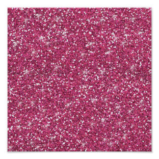 Hot Pink Glitter Printed Poster