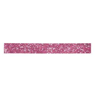 Hot Pink Glitter Printed Satin Ribbon